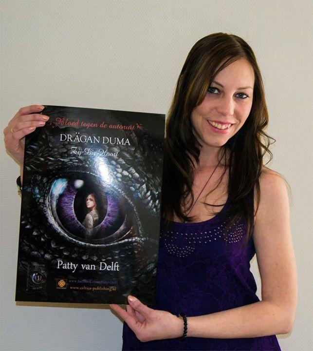 Patty met haar boek