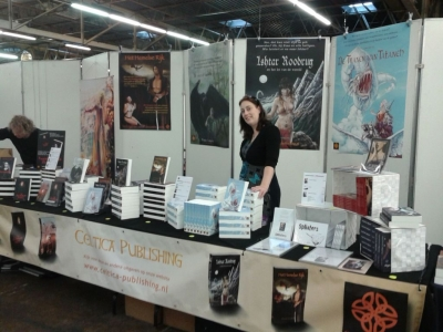 Stand Celtica Publishing met Evi F. Verhasselt