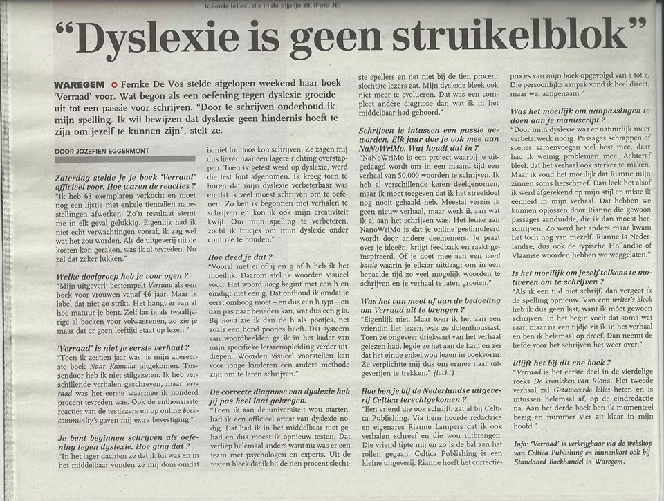 De KW - 11 april 2014 (artikel)