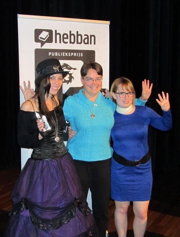 Trotse uitgever met haar auteurs