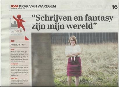 Artikel Krak van Waregem - Femke De Vos 1