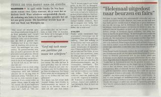 Artikel Krak van Waregem - Femke De Vos 2