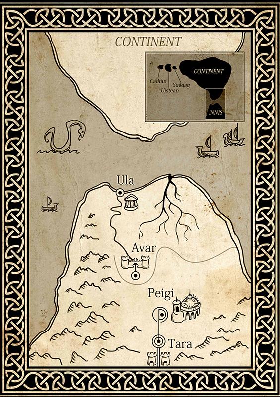 Kaart van het rijk Riona
