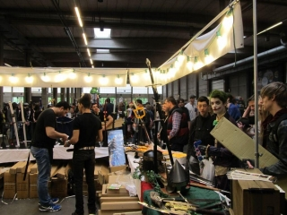 Antwerp Convention 2015: drukte links van de kraam om 10.45 uur
