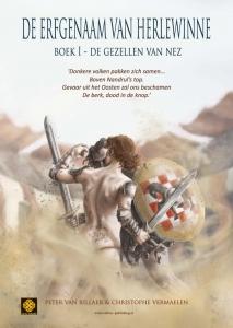 """Poster van """"De erfgenaam van Herlewinne, boek 1 - De gezellen van Nez"""" met Jente"""