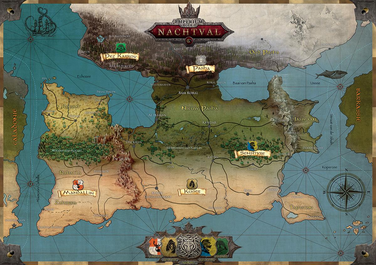 Landkaart van het Emperium