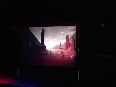 Boektrailer op scherm