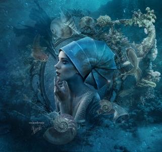 Fairytale little mermaid